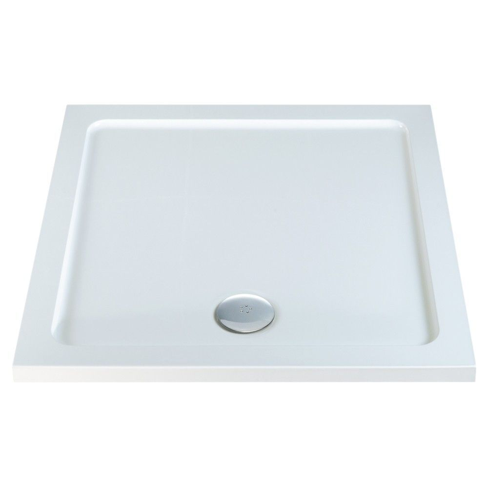1000mm x 1000mm Low Profile Square Shower Tray & Waste