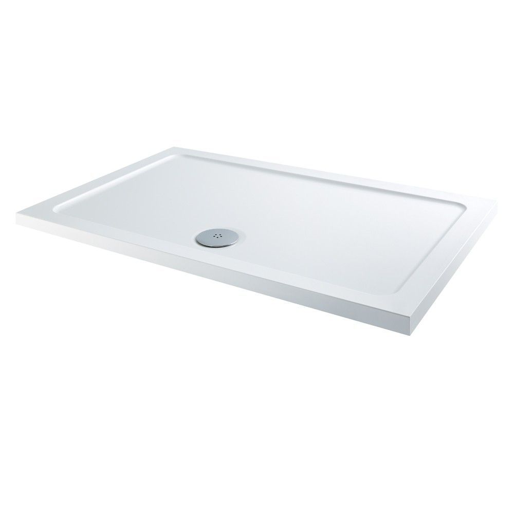 1200mm x 760mm Low Profile Rectangular Shower Tray & Waste