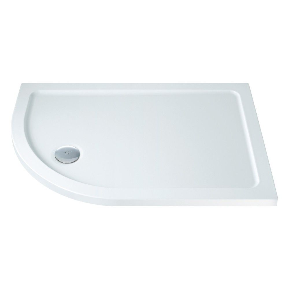 900mm x 760mm Low Profile Offset Quadrant Shower Tray - Left Hand