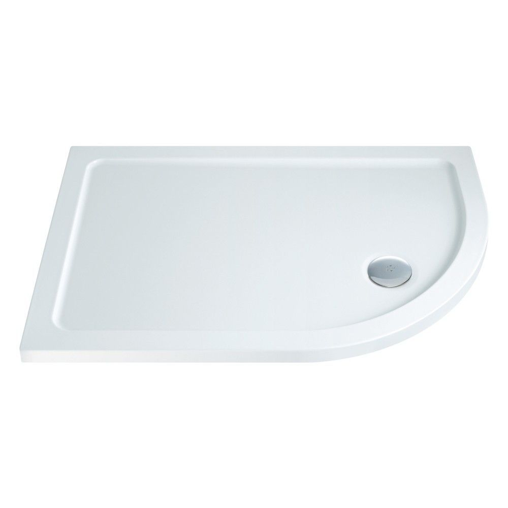 900mm x 760mm Low Profile Offset Quadrant Shower Tray - Right Hand