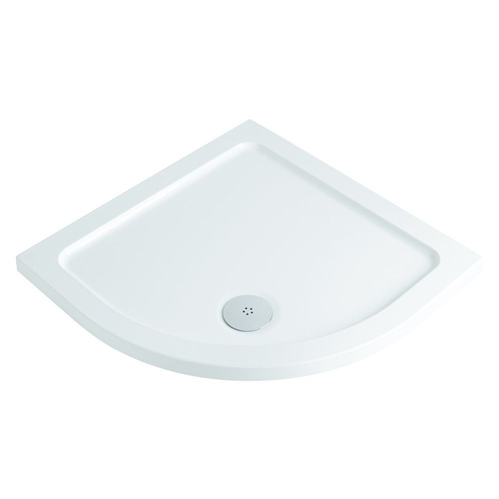 900mm x 900mm Low Profile Quadrant Shower Tray & Waste