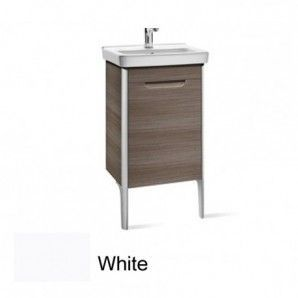 Roca Dama-N 1 Door Wall Hung Vanity Unit & Basin 790mm x 550mm 1 LH Tap Hole White