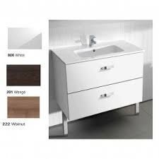 Roca Dama-N 2 Drawer Wall Hung Vanity Unit & Basin 1000mm x 460mm 1 Tap Hole White