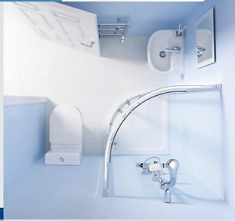 Space Saving Shower Suite Inc Quadrant Enclosure Modern Basin & Toilet - Various Sizes