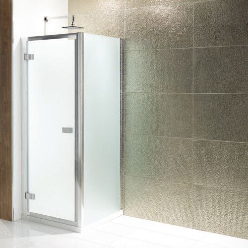 Volente Frosted Hinged Door Shower Enclosure - Various Sizes, Optional Side Panel