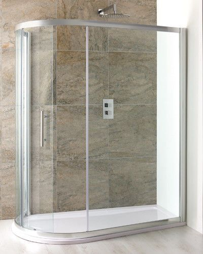 Volente Spacesaver Quadrant Enclosure With Shower Tray And New Integral Waste - Various Sizes