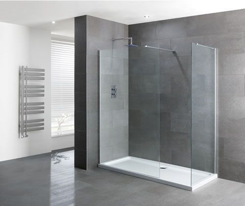 Volente Walk-In Shower Screen - Various Sizes, Easy Clean, Optional End Panel