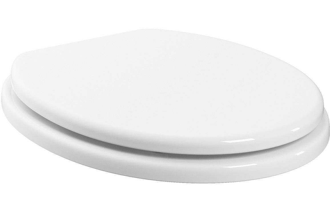Bathrooms To Love White Gloss Wooden Toilet Seat Soft Close