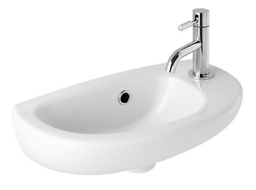 Eastbrook Kompact Cloakroom Basin 419x216 1TH RH