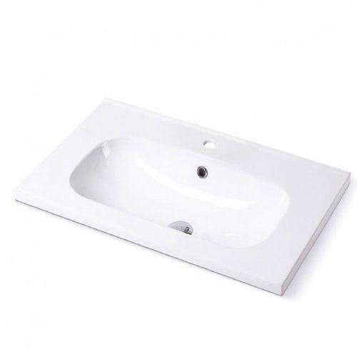 Pura Ivo ice compact 500mm basin with two tap holes and full pedestal