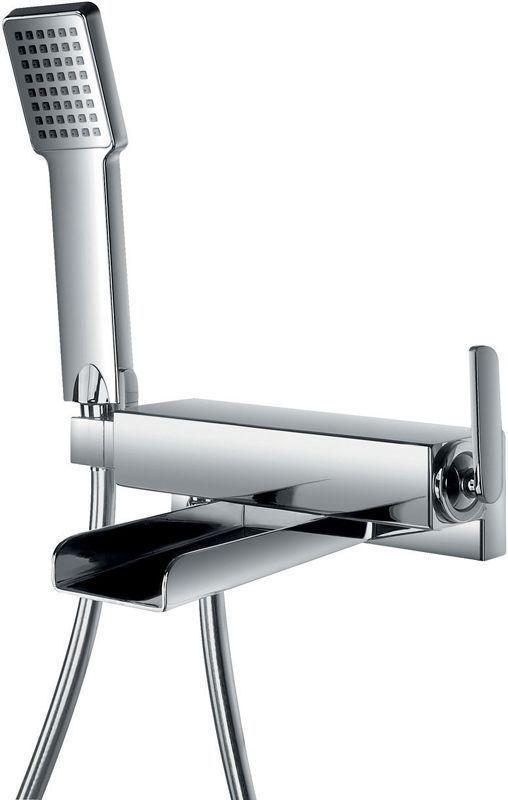 pura flova cascade wall mounted single lever bath shower