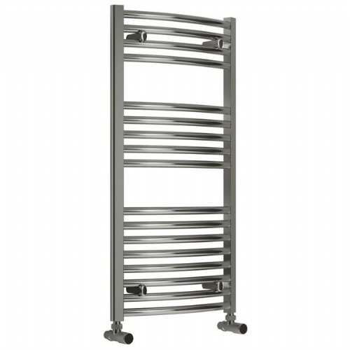 Curved White Heated Towel Rail 1000mm x 600mm