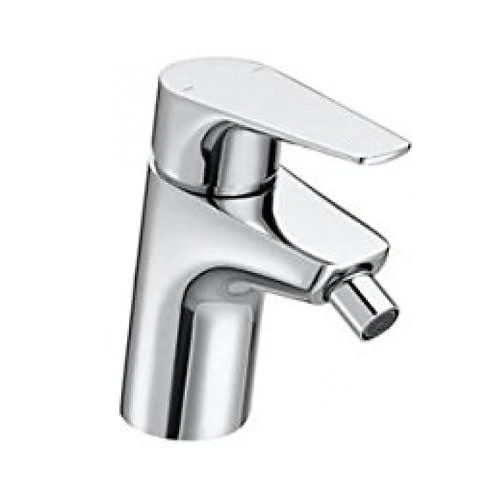 Roca Atlas Bidet Mixer Tap With Retractable Chain Chrome