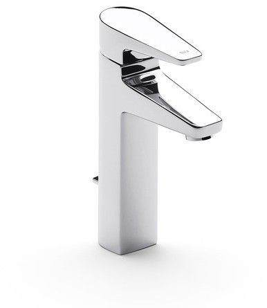 Roca Esmai Extended Basin Mixer Tap With Pop Up Waste - Chrome